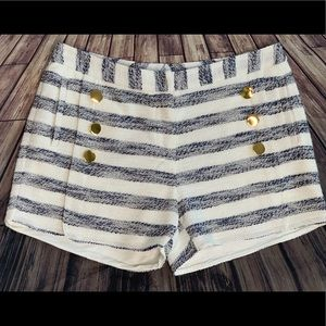 Julie Brown Sailor Buttons Shorts